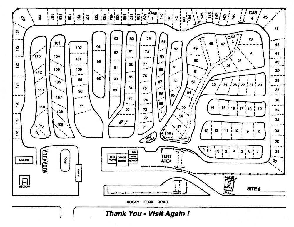 nashville i-24 campground site map